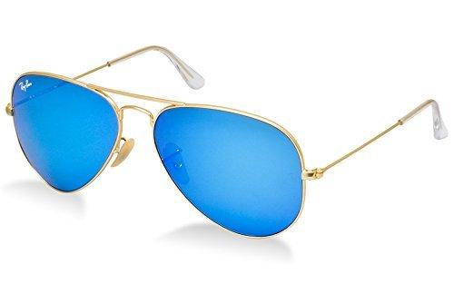 Ray Ban-Ump Aviator Unisex Sunglasses (Ump-Gssga|Blue)