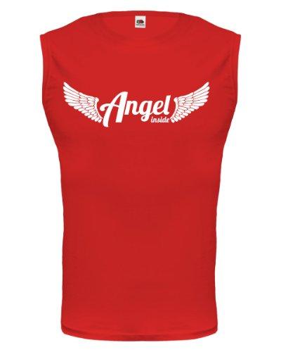 buXsbaum® Tank Top Angel inside Red-White