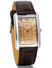 ontre Homme Avaner Montre Bracelet Style Rétro Cadran Chiffres Romains Montre de Plongée - Afficahge Analogique -Bracelet en Cuir Bracelet Montre (Marron)