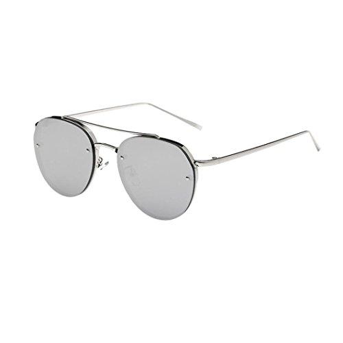 Occhiali da sole da donna uomo -beautyjourney occhiali da sole cat eye donna rotondi vintage sunglasses cat eye- donne moda circolare occhiali da sole montatura in metallo occhiali da sole marca tono (e)