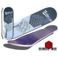 Skateboard Grafik Deck JUSTICE Deck matrix grey Size 7,5 -