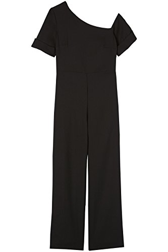 FIND Damen Off Shoulder-Jumpsuit Schwarz (Black Beauty 19-3911), 46 (Herstellergröße: XXX-Large)