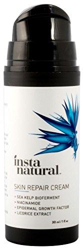 InstaNatural Narbencreme - Behandlung für alte & neue Narben - mit 15% Seetang Bioferment, Mandelöl, epidermalem Wachstumsfaktor, Niacinamid, MSM & Vitamin E - Haut hydratisierende Formel 30 ml
