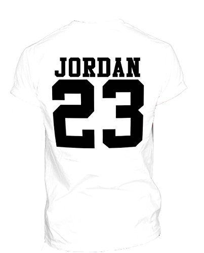 Nuovo Unisex Jordan 23 maglietta Michael Air MJ Chicago Bulls Basketball Washington Jordans White XLarge