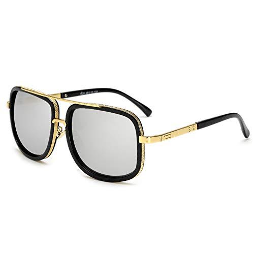 She charm Vintage Sonnenbrillen, Sonnenbrillen, Mode Sonnenbrillen, Metall Vintage Sonnenbrillen für Männer & Frauen,BlackframeSilver