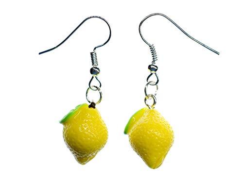 Zitronen Zitrone Ohrringe Miniblings Hänger Frucht Zitrusfrucht Obst 17mm gelb - Zitrusfrüchte Bäume