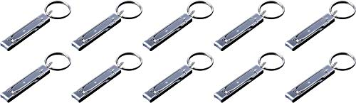 munkees Mini-Nagelknipser, freiem Edelstahl, Schlüsselanhänger, Nagelzwicker, Nagelzange, Silber, 10er Pack 25000