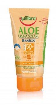 Aloe Crema Solare Bambini Spf 50+ Equilibra 150 Ml