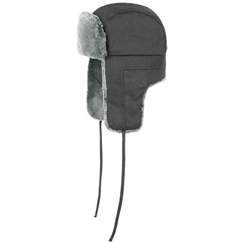 Stetson Old Cotton Fliegermütze | Wasserabweisende Pilotenmütze | Chapka Herren/Damen | Mütze Herbst/Winter | Wintermütze schwarz L (58-59 cm)