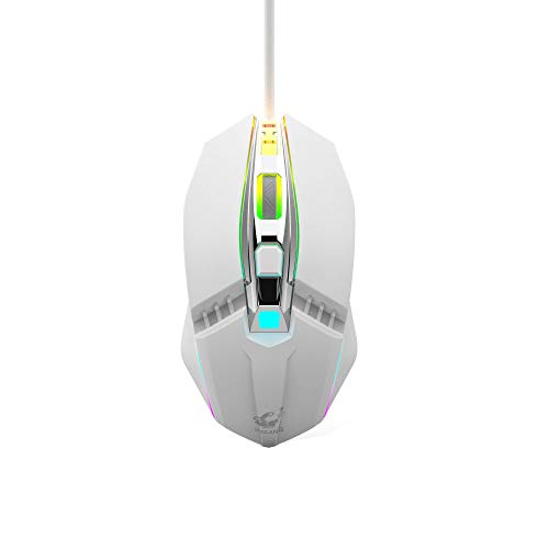 Pro Kostüm Mac - Mini Maus Kabellos Wireless Mouse, 2.4G Funkmaus, 1800DPI 4 Tasten Optische Mäuse mit USB Nano Empfänger für PC Laptop iMac Macbook Microsoft Pro, Office Home,Schwarz