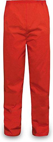 normani Outdoor Sports Regenhose für Damen und Herren wasserdicht 5000 mm für Wandern, Gassi gehen, Angeln oder Fahrad Fahren Farbe Rot Größe L