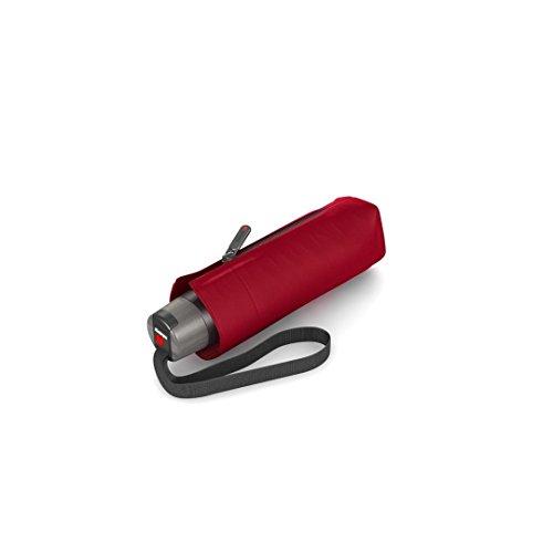 Knirps Taschenschirm T.010 Manual Uni - Sehr leicht - Klein und kompakt - Sturmfest - Windproof - Dark Red