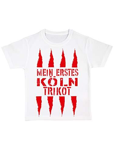 clothinx Kinder Bio T-Shirt Mein erstes Köln Trikot Weiß Gr. 104