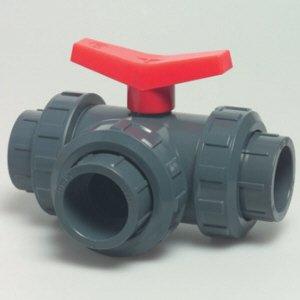 PVC 3-Wege-Kugelhahn d 63 mm