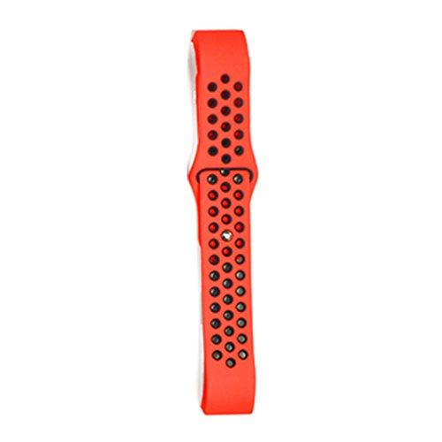 Providethebest Dual-Farben-Armband-Ineinander Greifen Sport-B¨¹Gel-Silikon-Ersatzgummi Blacelet-Ketten-Uhr-Gurt f¨¹r Fitbit Sch¨¹ttung 2 Rot + Schwarz
