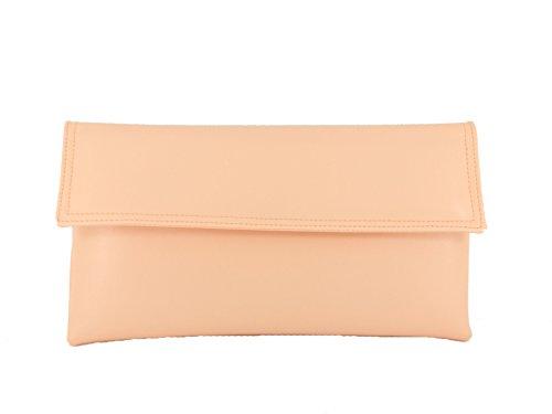 Pochette Da Donna Loni In Similpelle Con Lunghe Spalline In Rosa Fucsia Color Beige