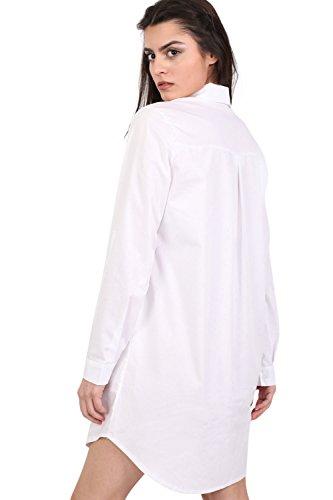 PILOT® floral bestickten Hemdkleid Weiß