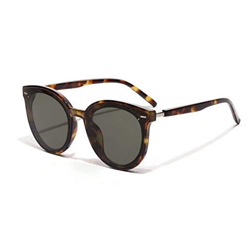 KCJKXC Korea Sonnenbrille Frauen Männer Marke Oversize Cat Eye Sonnenbrille Uv400 Punkte Shades FürFrauen