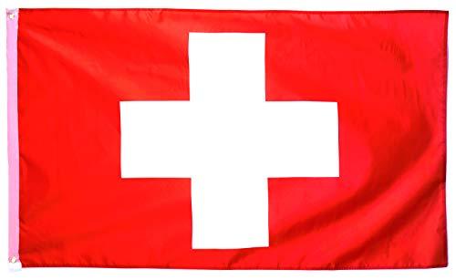 Star Cluster 90 x 150 cm Fahne und Wappen der Schweiz/Schweiz Flagge/Drapeau Suisse/Flag of Switzerland (CH 90 x 150 cm)