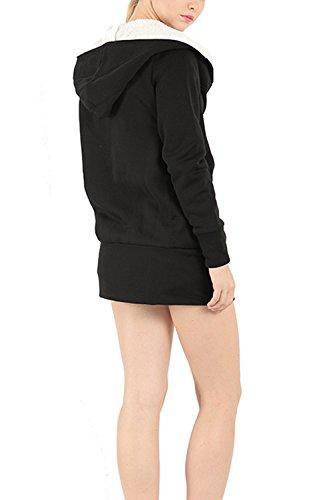 Les Manches Longues - Occasionnels À L'hiver Chaud Solide Des Sweat - Shirts. Black