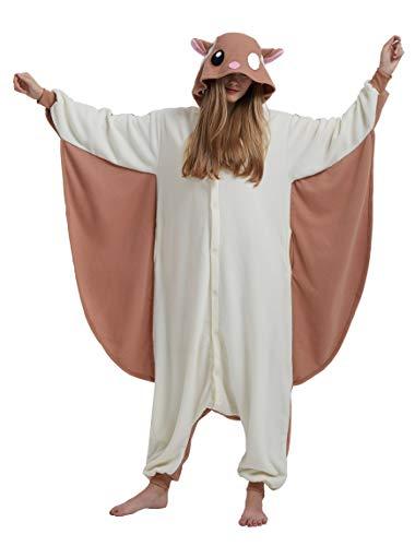 YarBar Tier Onesies Karneval Halloween Kostüm Nachtwäsche Cosplay Pyjama Erwachsene Unisex Kigurumi Jumpsuit (S (für Höhe 148-155CM), Maus) (Erwachsenen Maus Pyjama Kostüme)