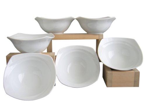 Creatable 13166, Serie Celebration Weiss, 6 TLG Müslischalen Set, Porzellan, 16.5 x 17.2 x 16.5 cm, 6-Einheiten -