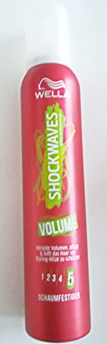Wella Shockwaves Volume Schaumfestiger Ultra Strong, 3er Pack (3 x 200 ml)
