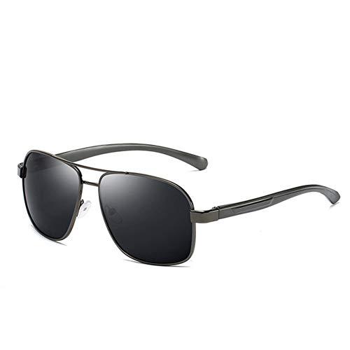 Li Kun Peng Männer Polarisierte Sonnenbrille Aluminium Magnesium Sonnenbrille Driving Glasses Rechteck Shades Für Männer Oculos Masculino Male,C2Gun~Grey