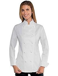 Amazon.it  giacca bianca donna - Giacche da chef   Ristorazione ... d03b8d7b4cec