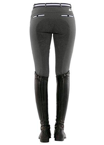 SPOOKS Reithose für Damen Mädchen Kinder, Voll-Besatz Reithosen Leggings Turnierreithose - bequem & stylisch Ricarda Full - Stone M