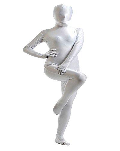 verall Bodysuit Clubwear Halloween Kostüme Weiß XL (Spiderman Kostüm Bodysuit)