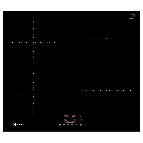 31gHuqC39dL. SS500  - Neff T36FB41X0G Touch Control 60cm Four Zone Induction Hob Black with Bevelled Front Edge, Ceramic, 2200 W