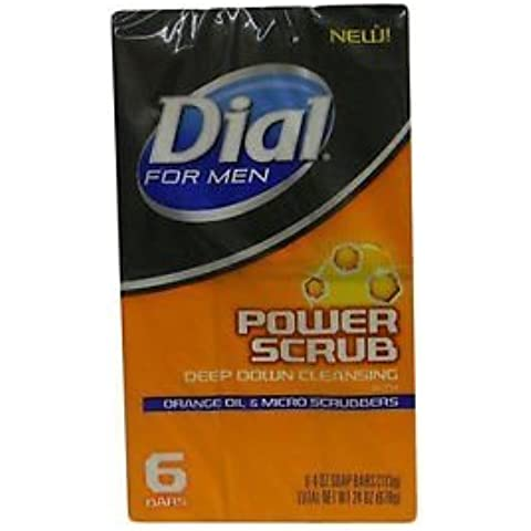 Dial for Men Power Scrub Soap, 2X 6 Count 4OZ.