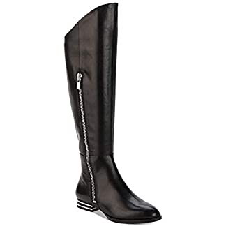 DKNY Womens Lolita Leather Closed Toe Over Knee Fashion Boots