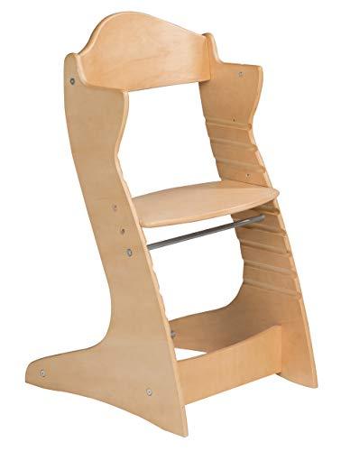 roba Treppenhochstuhl \'Chair Up \', mitwachsender Hochstuhl für Babys & Kinder, Kinderhochstuhl Holz, natur