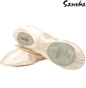 Sansha 5S tutu-split, Tanzschuhe Schläppchen Rose Anglais