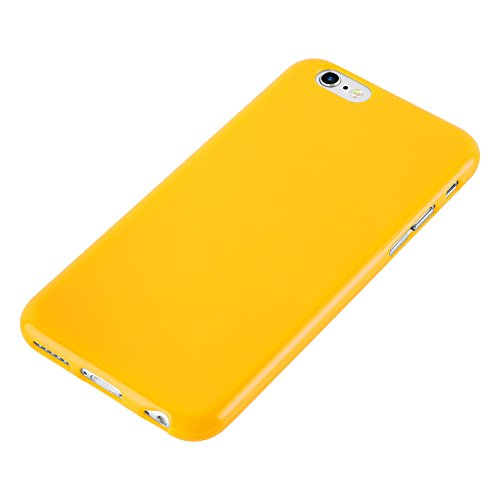Cadorabo - Ultra Slim TPU Jelly Coque Etui Housse Gel (silicone) pour Apple iPhone 6 / 6S - Coque Case Cover Bumper en JELLY-VERT JELLY-JAUNE