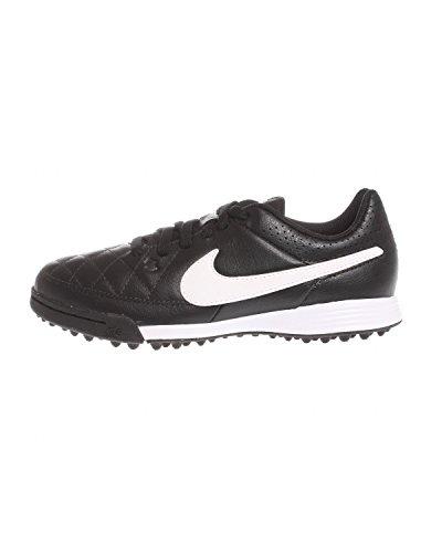 Nike Mädchen Jr Tiempo Genio Leather Tf Turnschuhe Schwarz / Weiß / Schwarz (Schwarz / Weiß-Schwarz)