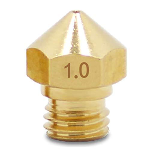 YUOKI99 Extruderdü MK10 DIY Durable Genaue Messing Heim Gewinde Wärmeleitende Bürodrucker Teile Klein(1,0)