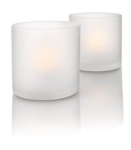 Philips Juego de 2 Naturelle CandleLights 69184/60/PH Lámpara de mesa LED, 0.5 W, Color blanco
