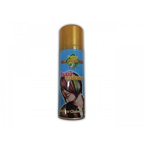 Haarspray / Haarfarbe / Hair Color in glänzendem gold