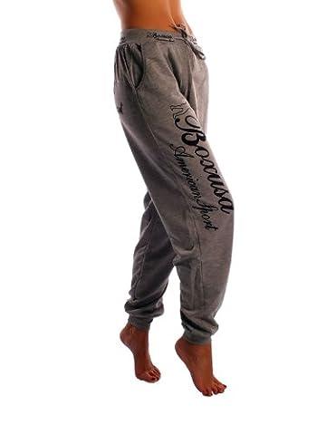 CINC Damen Jogginghose Boxusa American Style - Größe: XXL - Farbe: Grau - 19450 (Damen Jogginghosen)
