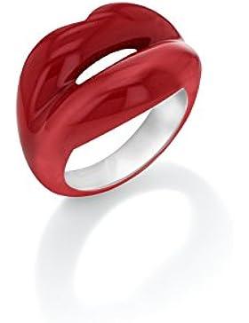 Solange Azagury-Partridge Hotlips lackiert-Ring Sterling-Silber 925, Rot