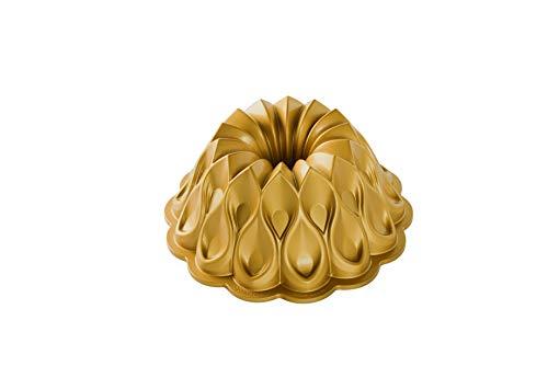 NordicWare Nordic Ware-Non-Stick Kuchen Backform-Krone, Aluminium, Gold, 25,4 x 25,4 x 9,9 cm