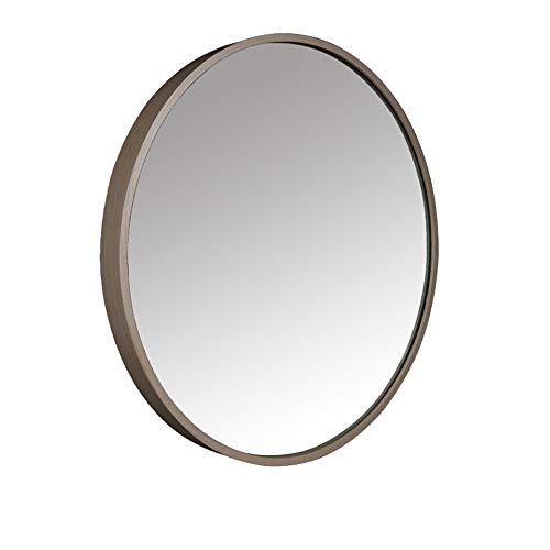 JRPW Marco de Aleación de Aluminio Espejo de Pared Redondo Espejo de Baño Hd Espejo de Maquillaje...