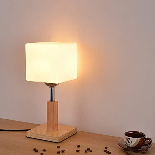 ZY * Moderner minimalistischer Holztisch Tisch Glas weiß Glas Lampenschirm Desktop Licht für Schlafzimmer Arbeitszimmer Wohnzimmer Cafe Bar Restaurant Augenschutz Schreibtisch Lichter (Größe: Stil A) -