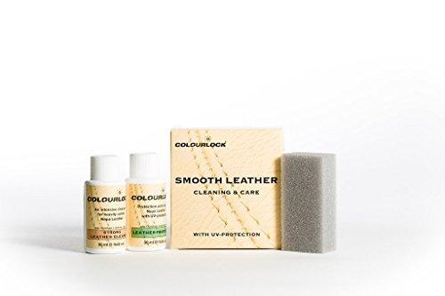 Colourlock Leder Clean & Care Kit–Starkes Reinigungsmittel für Leder und Lederschutz, für Reinigung und Schutz des Autoinnenraums, Leder-Möbel, Sofa, Jacken, Handtaschen und anderem Leder, gegen allgemeine Abnutzung, Starkes Reinigungsmittel, S (Leder-jacke Reinigung Von)