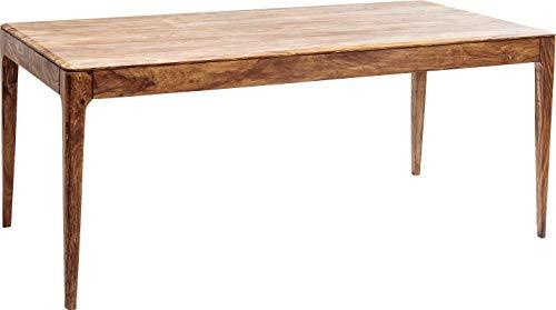 Kare Design Tisch Brooklyn Nature, Esszimmertisch aus Massivem Sheesham-Holz, Hellbraun gebeizter Esstisch, Holztisch, Küchentisch (H/B/T) 76x175x90 cm