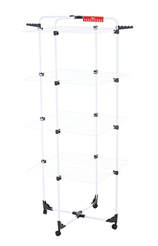 Vileda mixer 4 stendibiancheria a torre, metallo, bianco, 5 x 71 x 163.5 cm