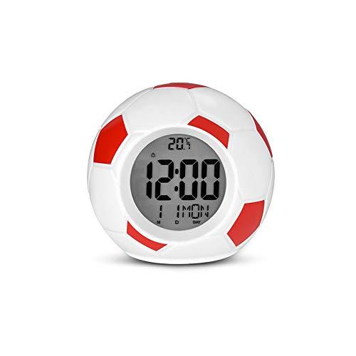 Fußball Led Nachtlicht Wecker Lampe Digital Fußball Tischlampen Temperatur Datum Zeitanzeige Tisch Schlafzimmer Dekoration